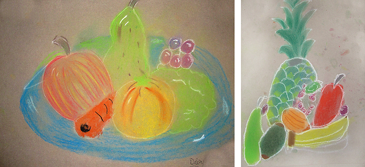 pastel still life drawings